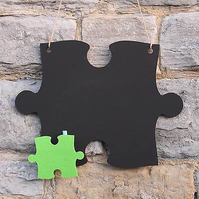 Chalk Blackboard Jigsaw Puzzle Center Peice Shape for Memos Notes & Home Decor