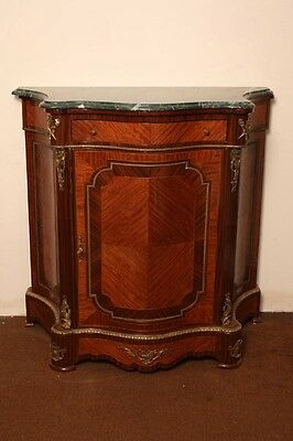 Beautiful Mahogany & Rosewood Serpentine Side Cabinet