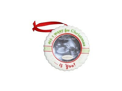 All I Want For Christmas Is You! - Ultrasound Photo Frame Ceramic Ornament