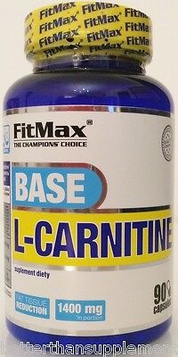 FitMax L-Carnitine Base 90 capsules fat tissue reduction - free shipping !