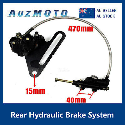 15mm Hydraulic Rear Brake System Master Cylinder Caliper PITPRO Trail Dirt Bike