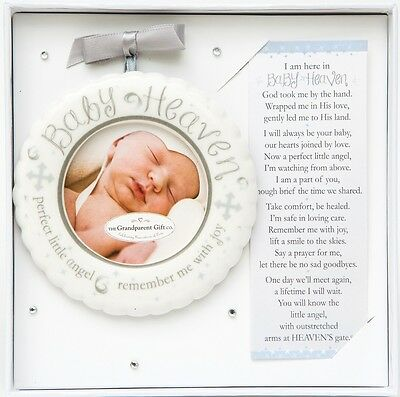 Baby Heaven Infant Memorial Photo Ornament, Miscarriage, Loss of Baby/Child