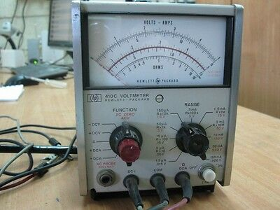 HP Agilent 410C Multi-Mode Voltmeter WITH PROBES