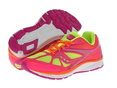 Saucony Kids *Kinvara 4 Citron Pink* Sneakers Size 5.5 M