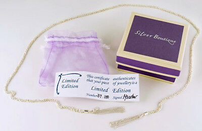SILVER BOUTIQUE Limited Edition Sterling Silver Scarf Necklace. Brand New Boxed.