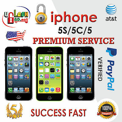 Premium Unlocking Service AT&T iPhone 5s, 5c, 5, 4s, 4, 3gs, 3g, 3 - All IMEI's