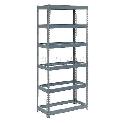 """Extra Heavy Duty Shelving 36""""W x 12""""D x 84""""H With 6 Shelves, No Deck"""