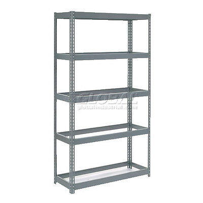 "Extra Heavy Duty Shelving 48""W x 24""D x 60""H With 5 Shelves No Deck"