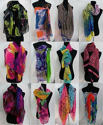 US SELLER-lot of 10 boho  abstract floral hijab wrapping skirt sarongs scarves