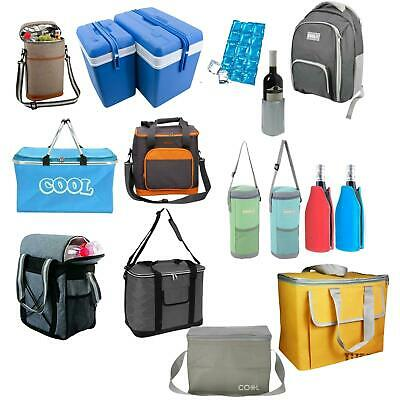 Insulated Cool Tote Bag ZipUp Ice Cooler Shoulder Strap Picnic Drinks Ice Blocks