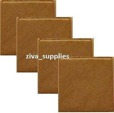 """(8.5"""" x 8.5"""") BROWN PAPER BAGS Small for Kids Party Bag Fillers Pick and 'n' Mix"""