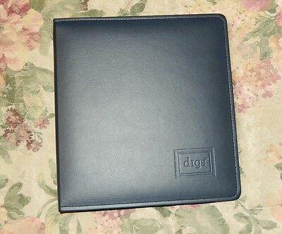 "New 2"" Planner 3 Ring Binder - BLACK  Open  Faux Leather"