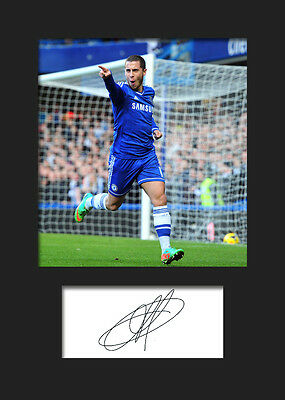 EDEN HAZARD A5 Signed Autograph Mounted Photo Print - FREE DELIVERY