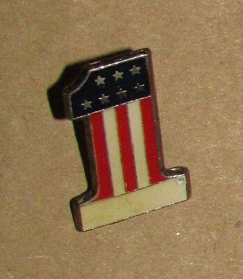 A7 Vintage Pin FLAG USA NUMBER ONE 1