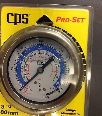 CPS Products RGML Gauge Lowside Liquid Filled 80mm 3-1/2""