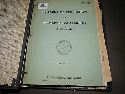 Collection Of Vintage Usaf Student Handbooks Pilot Training From The 1950's