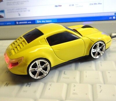 3D 1600DPI Lamborghini Car Style Cool Usb Optical Gaming Mouse with Light Up