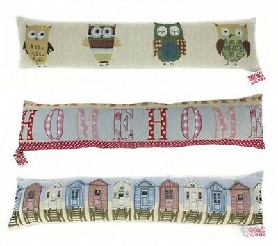 Patterned Fabric Cushioned Home Door Draught Excluder 88cm - Home Design