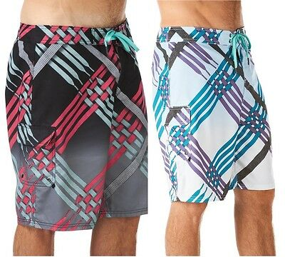 New Mens Nike 6.0 Scout Laces Surf Board Swim Beech Summer Shorts - Black White