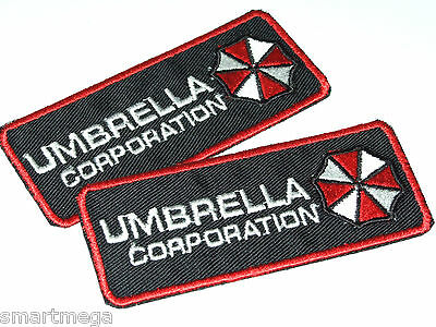 Resident Evil Umbrella Corporation Patch - Set of 2 Embroidered Iron On Patches