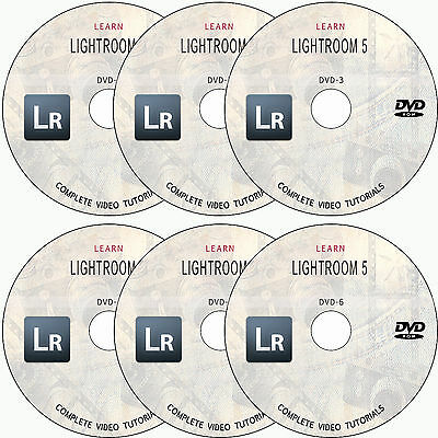 Learn Adobe Photoshop Lightroom 5 Course: Complete Video Tutorial Training 6-Dvd