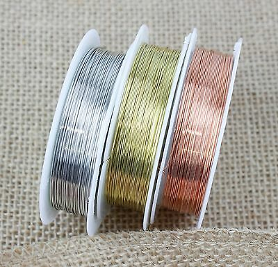Silver Gold Copper Plated Beading Wire 0.2mm - 1mm 2-30 Metres BUY 3 GET 3 FREE