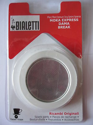 Bialetti Moka Replacement Replacements Coffee Maker seal & f. 1 2 3 4 6 9 12 cp