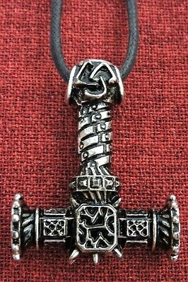 Thor's Hammer Mjöllnir Thors Norse Thor Viking Silver Plated Pendant Necklace