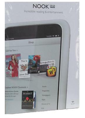 Barnes & Noble Nook HD 7'' 8GB WiFi Android Tablet eReader White BNTV400   NEW