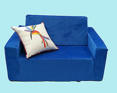 Kids Furniture Couch - Pull Out Sofa with Quilt