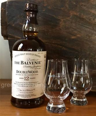 Lot of 2 Single malt scotch whisky tasting glasses 6 oz The Glencairn Balvenie