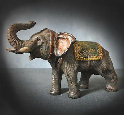 VERY RARE LARGE COLD PAINTED VIENNA BRONZE of an ELEPHANT