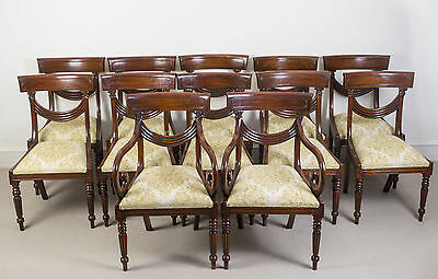 Superb Regency Style Dining Chairs Swag Back Set of 12 • £3,750.00