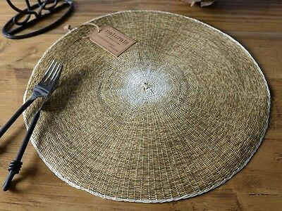 NATURALS Round Woven Paper PLACEMAT By Creative Tops