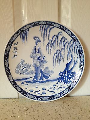 antique chinese plate with qianlong mark 10*10