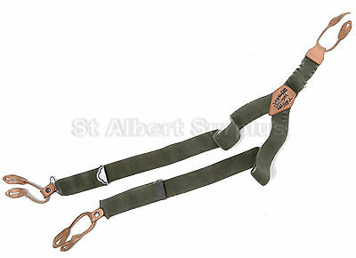 Canadian Army Suspenders - Grade B - Green - 150Jf