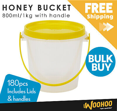 Honey Bucket 800ml/1kg Honey Jar Beekeeping Storage Container Carton of 180pcs