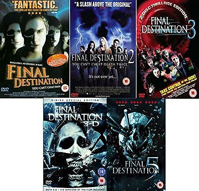 Final Destination 1-5 Film Collection Part 1 2 3 4 5 All 5 Movies New Sealed DVD