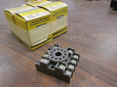 Square D Relay Socket 8501 NR6 11-Pin Lot of 4 New Surplus