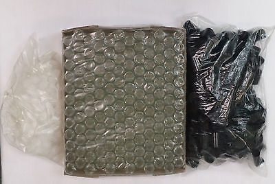 864 pcs 5 ml Roll-on Fancy Glass Bottles (1/6 Ounce) w/Black caps 6 boxes of 144