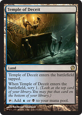 x1 Temple of Deceit MTG Theros M/NM, English