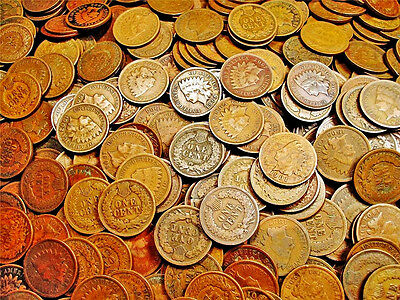 Indian Cent Copper Penny **10 COINS** US Old Antique Collectible Coin Set Lot