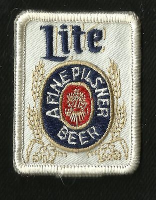 VINTAGE Miller Lite A Fine Pilsner Beer Collectors Patch - New Old Stock