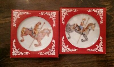 Vintage Willitts designs carousel collector plates