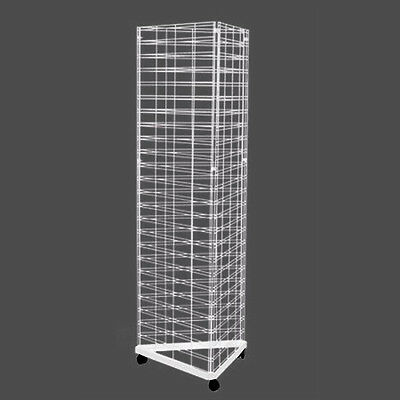 Gridmesh Triangular Base stand wire grid mesh display, metal slatwall panel