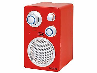 Trevi Portable FM radio with AUX Connection for smartphone  Red  FREE DELIVERY