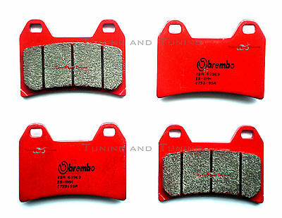 4 Front Brake Pads Brembo Sa For Ducati Hypermotard 1100 2009 09  (07Bb19Sa)