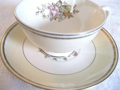 Homer Laughlin Eggshell Georgian China English Regency - cup and saucer
