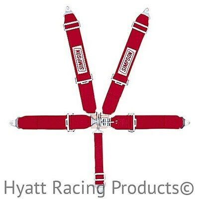 Simpson Racing Seat Belts Harness 29063 - Pull Down, Bolt In (All Colors)