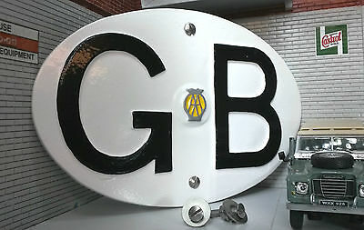 Land Rover Series Classic Camper Vintage AA GB Great Britain Touring Badge/Sign